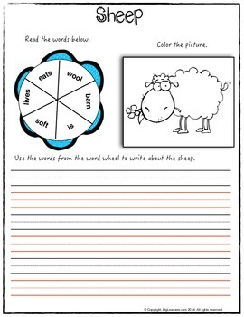 Nursery Rhyme : Baa Baa Black Sheep - Math and Literacy Pack