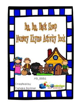 Baa, Baa, Black Sheep Nursery Rhyme Activity Book Freebie