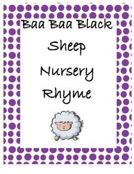 Baa Baa Black Sheep Nursery Rhyme Kit