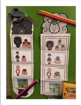 Baa, Baa, Black Sheep Nursery Rhyme Sequencing