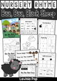 Baa, Baa, Black Sheep Nursery Rhyme Worksheets and Activities