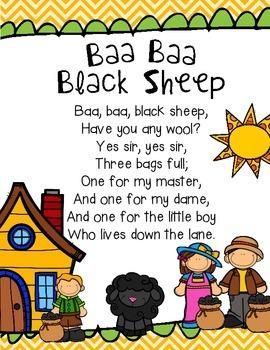 Baa Baa Black Sheep Poem and Reader