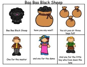 Baa Baa Black Sheep Sequencing Activities