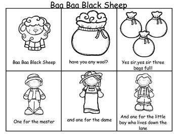 Baa Baa Black Sheep Sequencing Activities