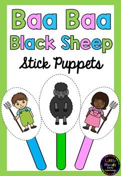 Baa Baa Black Sheep Nursery Rhyme Puppets