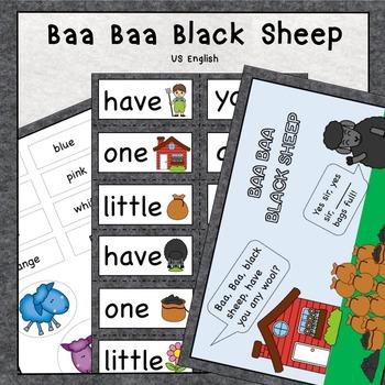 Baa Baa Black Sheep Nursery Rhyme Pack US