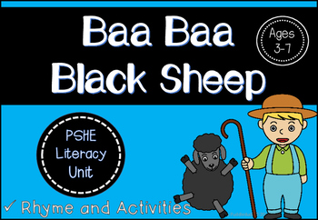Baa, Baa, Black Sheep -Unit of Work (Kinder and Elementary)
