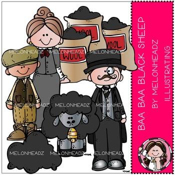 Melonheadz: Baa Baa Black Sheep clip art - COMBO PACK