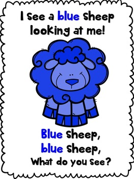 Baa Baa Colorful Sheep (identify/recognize colors)