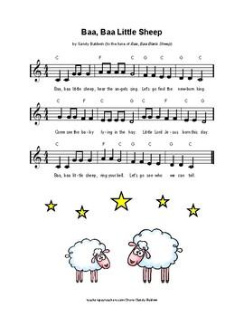 Baa, Baa Little Sheep - Christmas Song & Activities