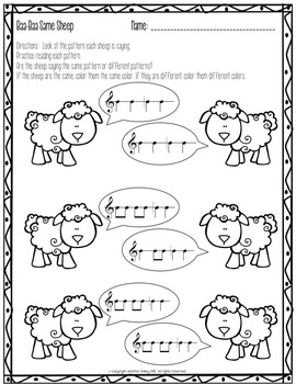 Spring Worksheets for the Music Learning Theory Inspired Classroom SAMPLER