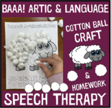 Baaa! Articulation and Language : A Speech Therapy Craft Activity