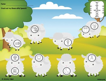 Baaa-utiful Speech FREEBIE for Antonyms