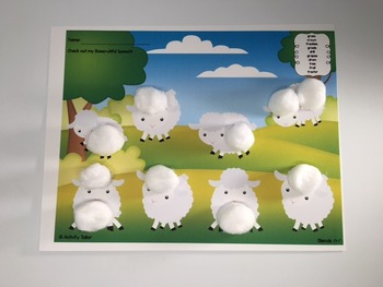Spring Worksheets for Articulation: Little Lambs