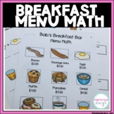 Bab's Breakfast Menu Math