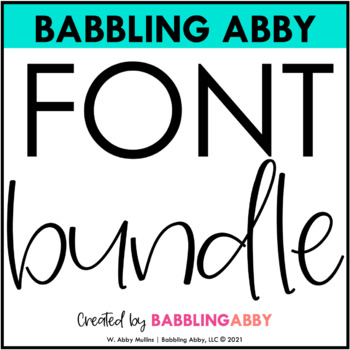 Babbling Abby Fonts BUNDLE