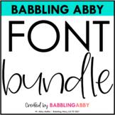 Babbling Abby Fonts BUNDLE
