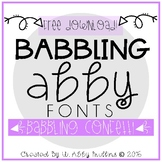Babbling Abby Fonts // Babbling Confetti (FREE)