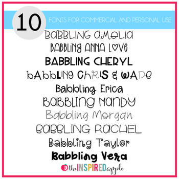 Babbling Abby Fonts Volume Eight