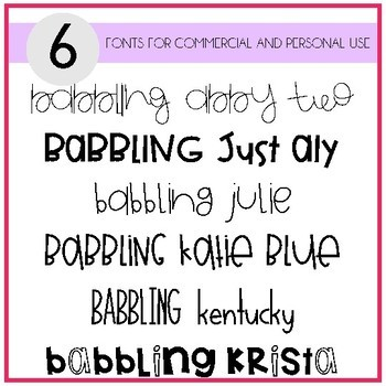 Babbling Abby Fonts Volume Eleven