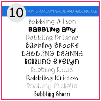Babbling Abby Fonts Volume Five