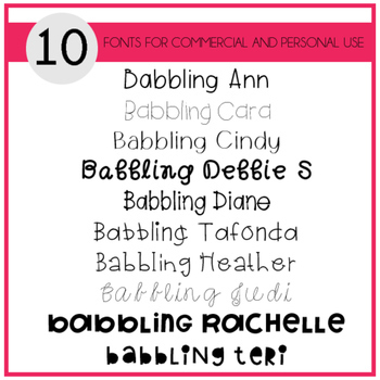 Babbling Abby Fonts Volume Four