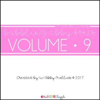 Babbling Abby Fonts Volume Nine