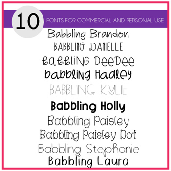 Babbling Abby Fonts Volume Six