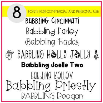 Babbling Abby Fonts Volume Ten