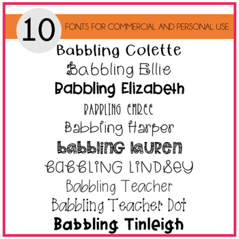Babbling Abby Fonts Volume Three