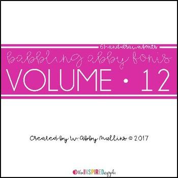 Babbling Abby Fonts Volume Twelve