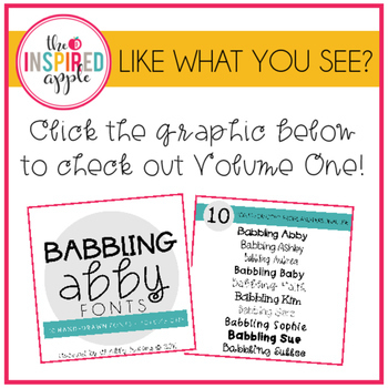 Babbling Abby Fonts Volume Two