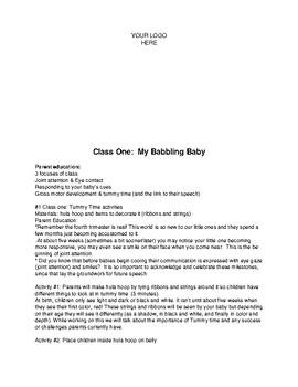 Babbling Babies (6 week parent/baby class)