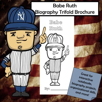 Babe Ruth Biography Trifold Brochure