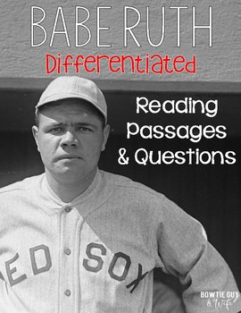 Babe Ruth Differentiated Reading Passages
