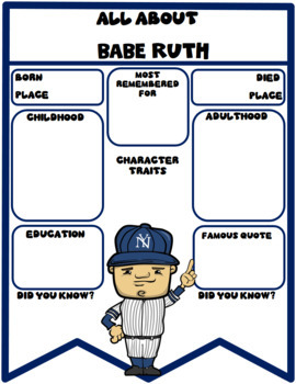Babe Ruth Digital Research Banner in Google Slides™