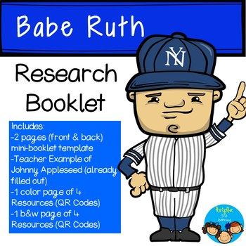 Babe Ruth-Historical Figure Research Booklet