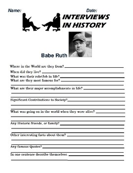 8d9e3def1 Babe Ruth Research and interview Assignment Babe Ruth Research and  interview Assignment