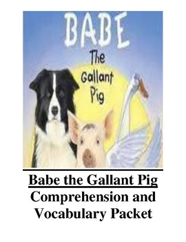 Babe the Gallant Pig Guided Reading Unit Level R