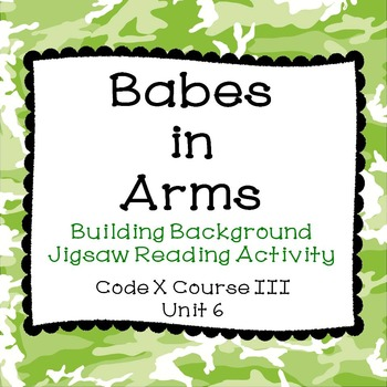 Babes in Arms Building Background Jigsaw Reading Activity