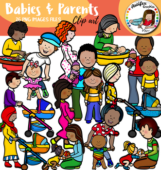 Babies & Parents clip art