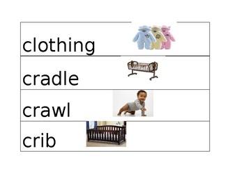 Babies Pre K Vocabulary Words NYCDOE