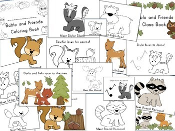 Forest Animals, Class Book, Coloring Book, For Your Forest Unit or Theme