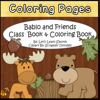 Forest Animals, Class Book, Coloring Book, For Your Forest