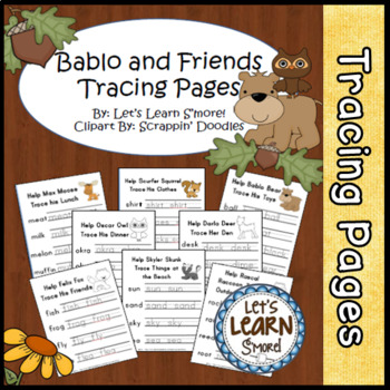 Forest Animals Activities, Tracing Pages, For Your Forest