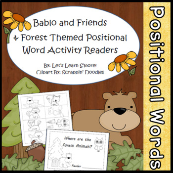 Forest Animals, Positional Words Emergent Reader, Cut/Past