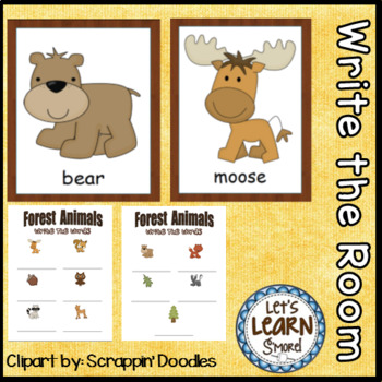 Forest Animals Write the Room Posters & Writing Activities for Your Forest Unit