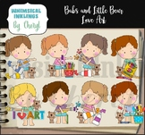 Babs and Little Bear Love Art Birthday Clipart Collection