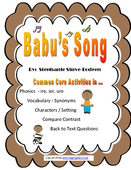 Babu's Song Common Core Close Activities