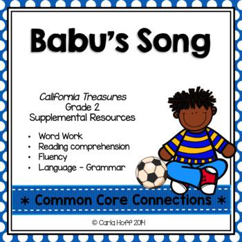 Babu's Song - Common Core Connections - Treasures Grade 2
